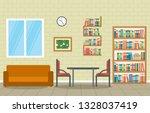 public library interior stack... | Shutterstock .eps vector #1328037419