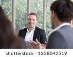 job interview  friendly... | Shutterstock . vector #1328042519
