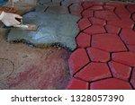 cobbles. stone road pattern.   Shutterstock . vector #1328057390