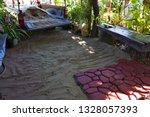 cobbles. stone road pattern.   Shutterstock . vector #1328057393