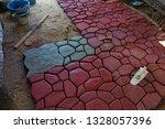 cobbles. stone road pattern.   Shutterstock . vector #1328057396