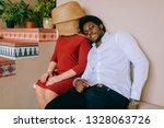 bizarre interracial loving... | Shutterstock . vector #1328063726
