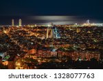 Barcelona night view cityscape full of lights