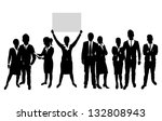business people silhouette | Shutterstock .eps vector #132808943