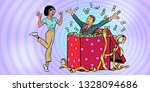 businessman husband lots of... | Shutterstock .eps vector #1328094686