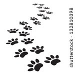 animal paw prints | Shutterstock . vector #132810398