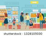 people in store. customer... | Shutterstock .eps vector #1328105030