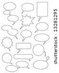 speech bubbles any forms | Shutterstock .eps vector #13281295