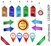 set of sale tags  labels and... | Shutterstock . vector #132813809