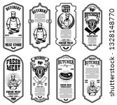 set of meat store flyers.... | Shutterstock .eps vector #1328148770