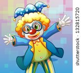 illustration of a clown with a... | Shutterstock . vector #132815720
