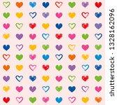 love theme hearts valentine's... | Shutterstock .eps vector #1328162096