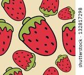 strawberry texture  pattern   Shutterstock .eps vector #132817298