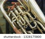 Music. Man Playing Euphonium ...