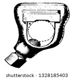 it is a saddle holder  which... | Shutterstock .eps vector #1328185403