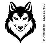 stylized syberian husky's head. ... | Shutterstock .eps vector #1328187530