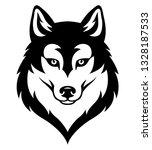 stylized syberian husky's head. ... | Shutterstock .eps vector #1328187533