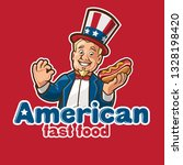 fast food mascot logo | Shutterstock .eps vector #1328198420