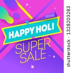 vector banner design of a super ... | Shutterstock .eps vector #1328203283