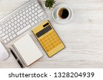 accounting. items for doing... | Shutterstock . vector #1328204939