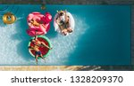 aerial view of young people on...   Shutterstock . vector #1328209370