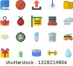 color flat icon set double... | Shutterstock .eps vector #1328214806