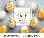 easter sale banner design with... | Shutterstock .eps vector #1328221973