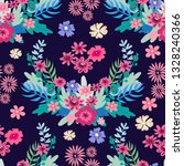 beautiful  flower seamless...   Shutterstock .eps vector #1328240366