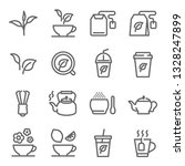 tea vector line icon set.... | Shutterstock .eps vector #1328247899
