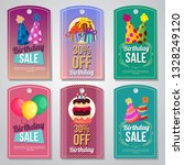 colorful birthday tag set party ... | Shutterstock .eps vector #1328249120