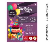 colorful birthday party poster... | Shutterstock .eps vector #1328249126