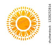beautiful sun. hand drawn with... | Shutterstock .eps vector #1328252816