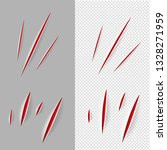 claws scratches set with... | Shutterstock .eps vector #1328271959