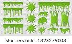green slime. goo paint drip ... | Shutterstock .eps vector #1328279003