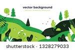gradient plant landscape.... | Shutterstock .eps vector #1328279033