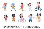 cartoon sport kids. boys and...   Shutterstock .eps vector #1328279039