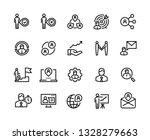 management line icons. team... | Shutterstock .eps vector #1328279663