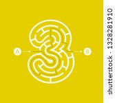 number three shape maze... | Shutterstock .eps vector #1328281910