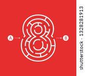 number eight shape maze... | Shutterstock .eps vector #1328281913