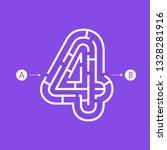 number four shape maze... | Shutterstock .eps vector #1328281916