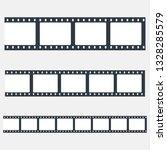 set of film strips. film frames.... | Shutterstock .eps vector #1328285579