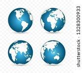 earth globe. world map set.... | Shutterstock .eps vector #1328300933
