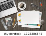 blank white sheet of paper with ... | Shutterstock .eps vector #1328306546