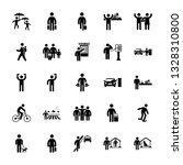 volunteer vector pictogram pack | Shutterstock .eps vector #1328310800