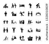 set of office pictograms    Shutterstock .eps vector #1328310839