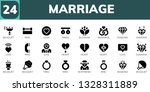marriage icon set. 24 filled... | Shutterstock .eps vector #1328311889