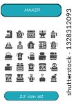 maker icon set. 25 filled maker ... | Shutterstock .eps vector #1328312093