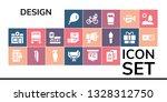 design icon set. 19 filled... | Shutterstock .eps vector #1328312750