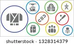 sports icon set. 9 filled... | Shutterstock .eps vector #1328314379