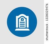 tombstone icon. editable ... | Shutterstock .eps vector #1328325476
